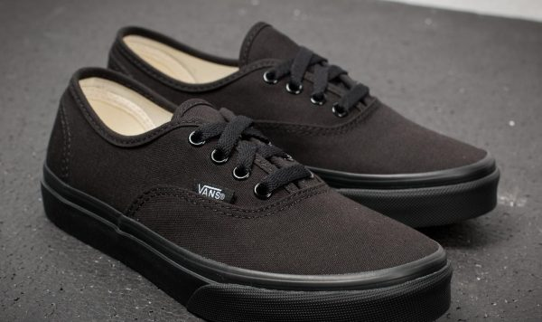 zapatillas vans authentic black black