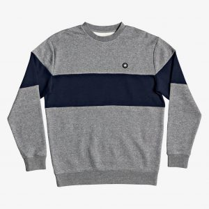 Sudadera DC Riot Colorblock Crew Medium Grey Heather