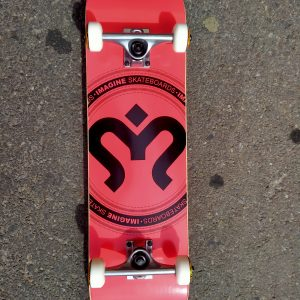 SKATE COMPLETE IMAGINE MEDALLION RED