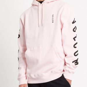 SUDADERA CON CAPUCHA SUPPLY STONE - SNOW PINK