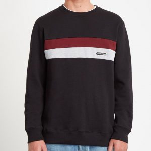 Sudadera VOLCOM Single Stone Division Crew black