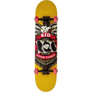 Skate completo KFD Young Gunz Badge Yellow