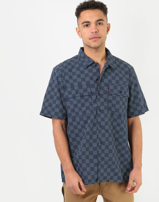 levis skate ss button down pipit navy blazer