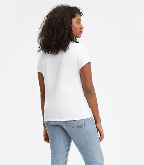 levis the perfect graphic tee white