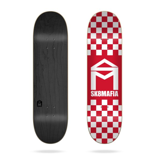 sk8mafia house logo checker red 5.25
