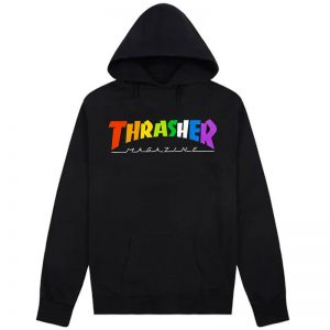 Sudadera Thrasher Rainbow black