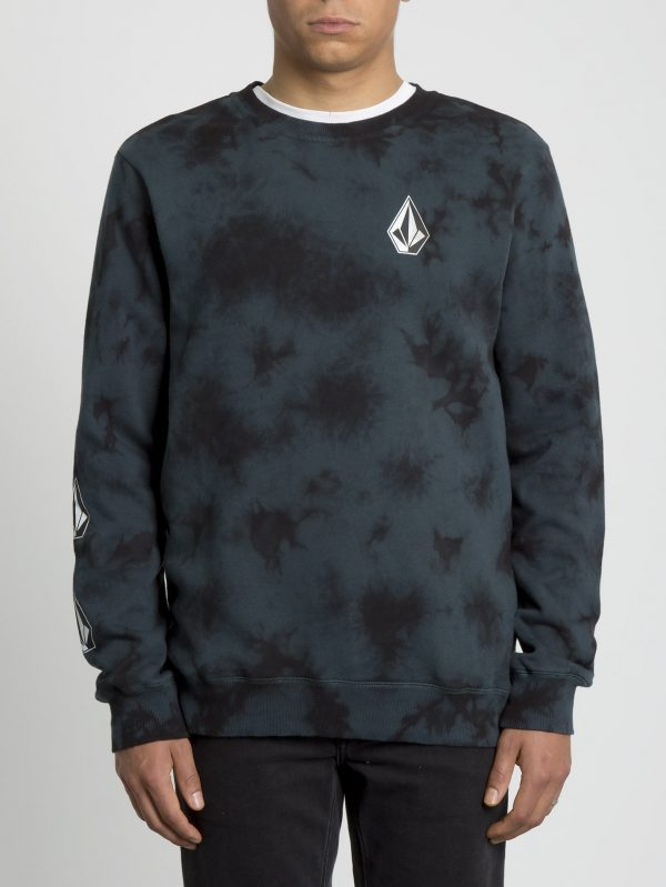 volcom SUDADERA DEADLY STONE crew - EVERGREEN